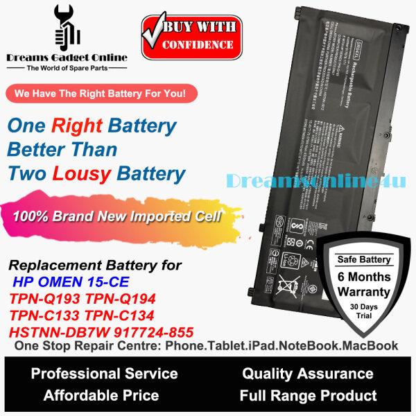 Replacement Notebook Battery SR04XL for HP OMEN 15-CE 15-CB 15-CB014UR TPN-Q193 TPN-Q194 TPN-C133 TPN-C134 HSTNN-DB7W Malaysia