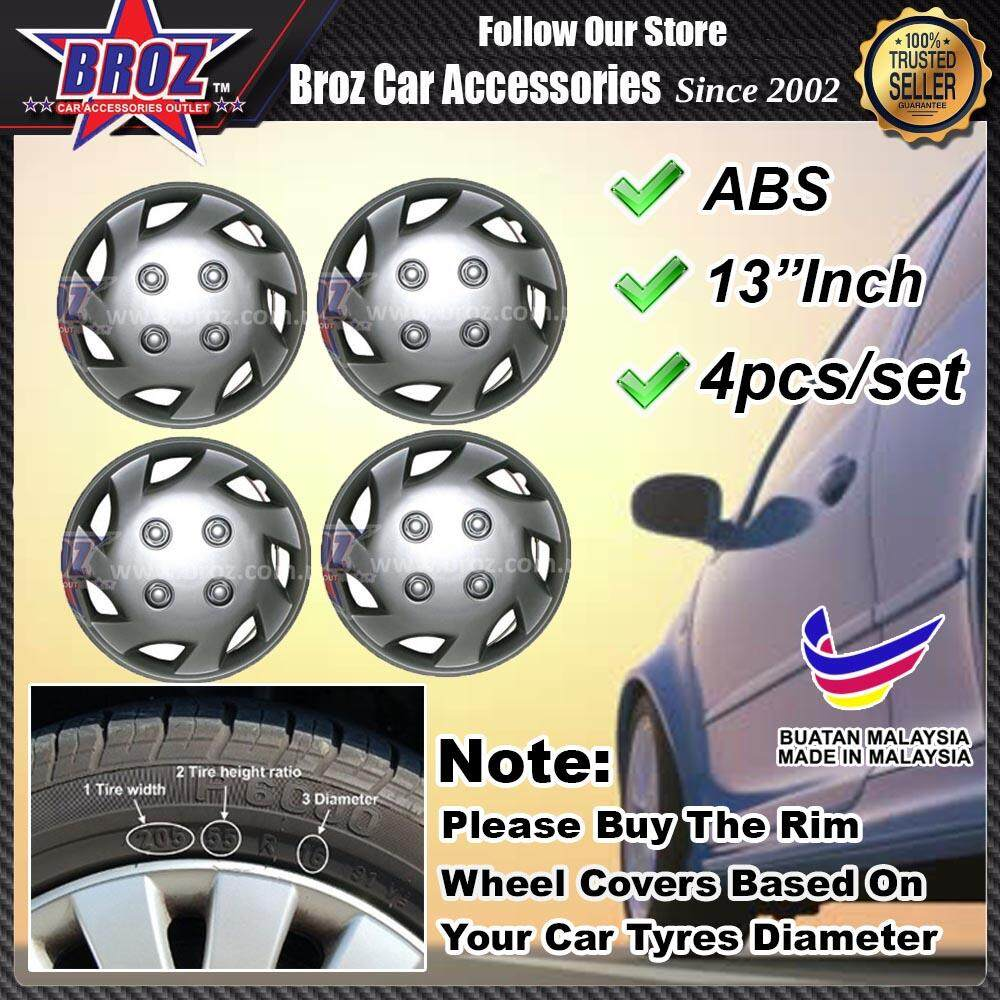 12 Inch Abs Wheel Cover Rim Center Hub Caps (made In Malaysia) For Perodua Kancil 850 And Viva By Broz Car Accessories.
