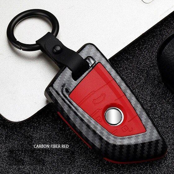 Carbon Fiber Car Key Cover Case For BMW 1 2 3 4 5 6 7 Series E90 F30 F34 X5 X6 3
