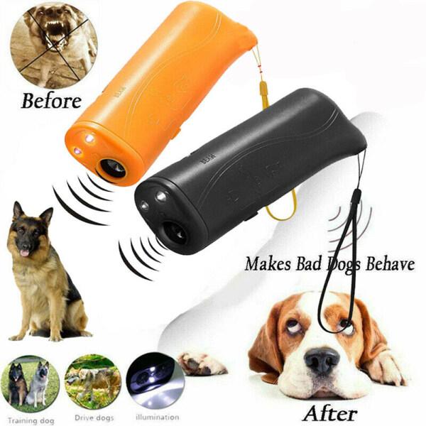 New LED Light Gentle Chaser Phong Cách Bền Repeller Kiểm Soát 3 Trong 1 Chó Chống Sủa Siêu Âm Chống Chó Sủa Thiết Bị Huấn Luyện Thú Cưng