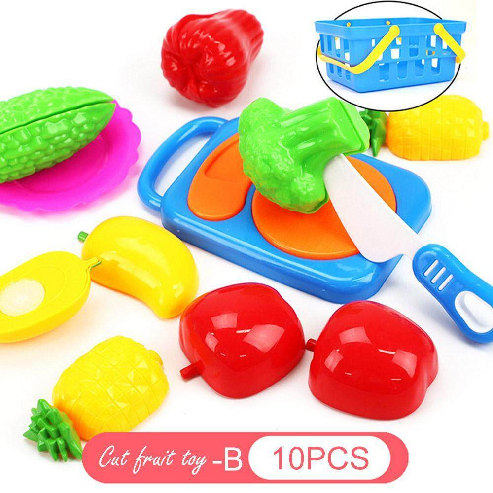Vayuncong Kids Toy Plastic Fruit Vegetable Food Cutting Pretend Play Early Educational Children Toys By Vayuncong.