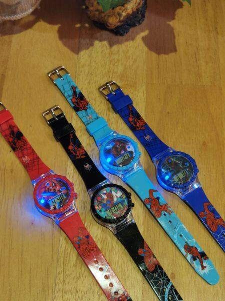 Kids Watches Cartoon with Music Light / Jam Tangan Budak Lampu dan Muzik Spiderman Malaysia