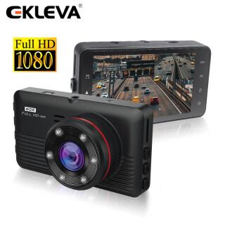 EKLEVA Dash Cam 3 Inch Full HD 1080P Ống Kính Kép Đầu Ghi Video Với Đăng Ký Nhìn Đêm Hồng Ngoại G-Sensor Mini Chiếu Hậu Camera Ô Tô thumbnail