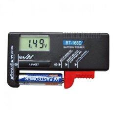 Battery Tester Universal Battery Checker for AA AAA C D 9V 1.5V Button Cell Batteries BT-168D (Black) Malaysia