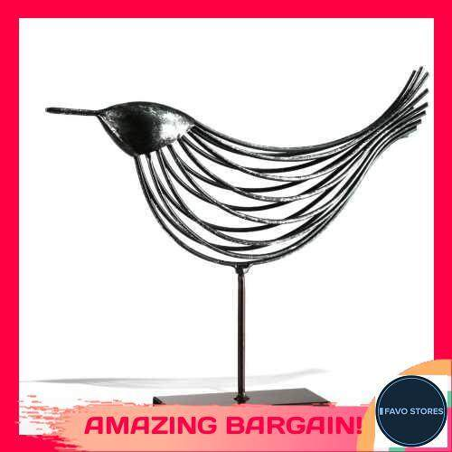 [FAVOSTORES] Iron Wire Bird Tooarts Metal Sculpture Home Decoration Creative Sculpture Bird