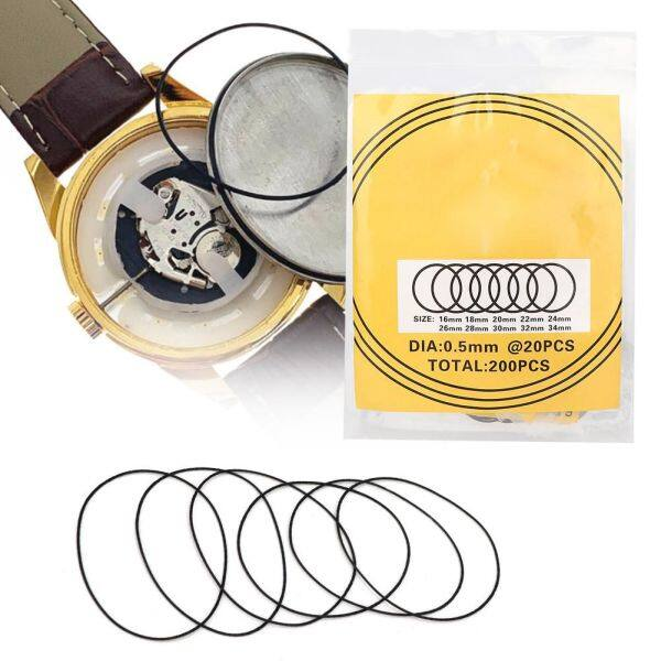 200pcs O-Ring Waterproof Rubber Seal Watch Back Cover Seal Gaskets Repairing Tool Malaysia