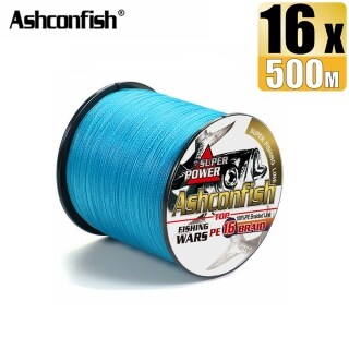Ashconfish Dây Câu Cá Bện Rỗng 500M 16 Sợi Jigging Dây PE X16 Siêu Mạnh 20-500LB Màu Xanh Dương thumbnail