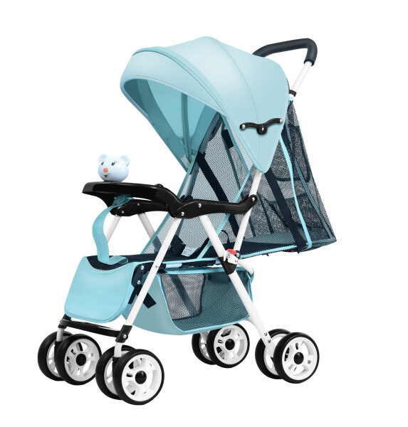Laugh Ha Ha Summer Lightweight Foldable Eight-Wheel Four Seasons Net Baby Stroller Baby Can Sit Armchair Cool Chair Umbrella Car Singapore
