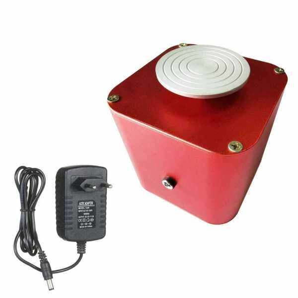 Electric Pottery Wheel Ceramic Machine with 6cm Turntable Clay Sculpting Wheel with Variable Speed and Clockwise/Anticlockwise Rotation for Adults Kids Beginners (Red)