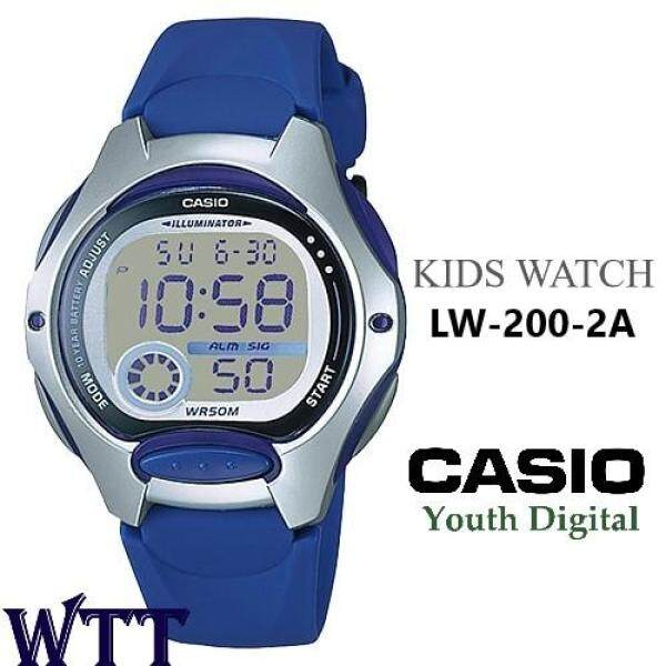 CASIO ORIGINAL LW-200-2A DIGITAL UNISEX KIDS WATCH (WATCH FOR KID / JAM TANGAN BUDAK / JAM TANGAN KANAK / CASIO WATCH LADIES / WATCH FOR WOMEN / CASIO WATCH) Malaysia
