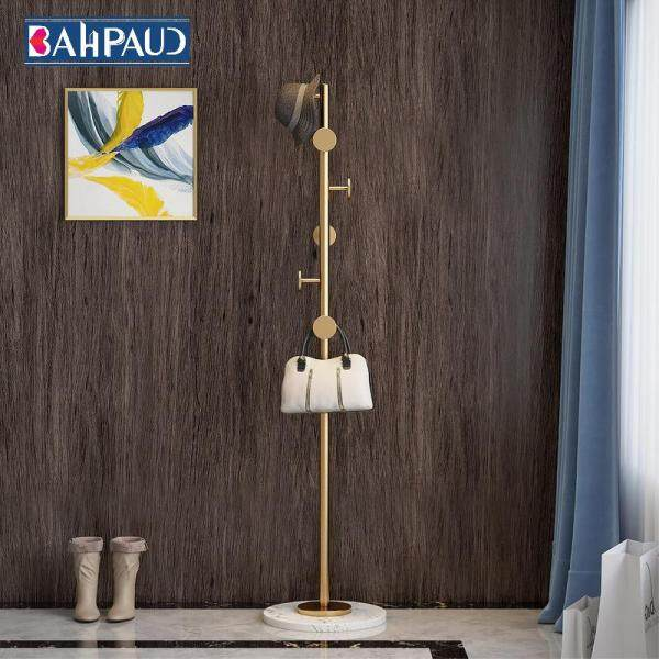 Bahpaud Nordic Coat Rack Cloth Hanger 170x33cm Marble Floor-mounted Light Luxury Small Apartment Metal Hanger