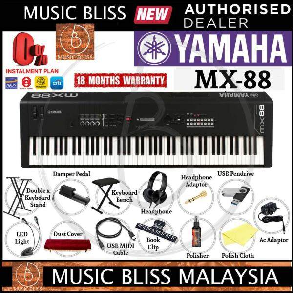 Yamaha MX-88 88-Key Weighted Action Music Synthesizer 14 in 1 Complete Package (MX88 / MX 88) Malaysia