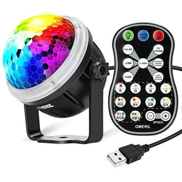 OMERIL Disco stage light Remote control/voice control/rotating light RGBY 4-color LED light source with remote control for stage/disco/party/karaoke/club/bar Malaysia