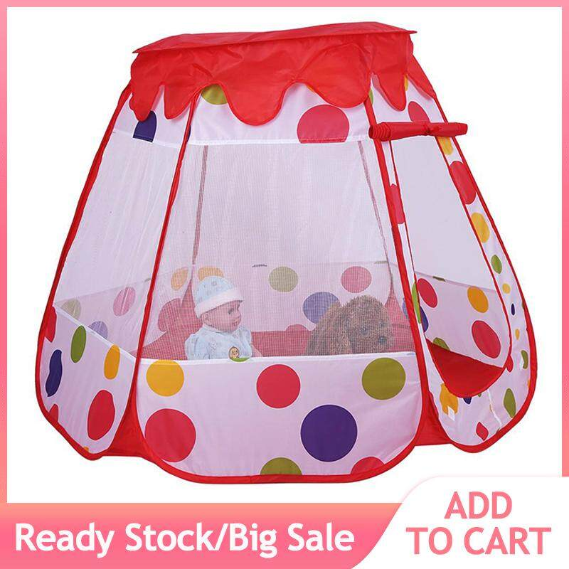 1pcs Portable Foldable Outdoor & Indoor Game Kids Play Tent Childs Playhouse Toy Gift (3 Red) By Beautytop.