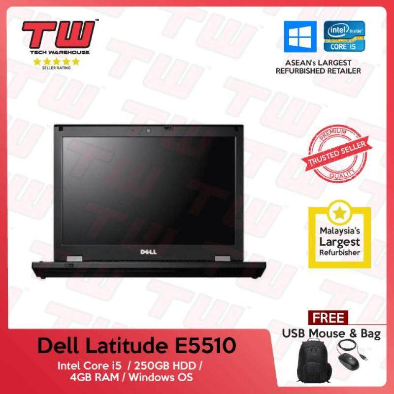 Dell Latitude E5510 Core i5 / 4GB RAM / 250GB HDD / Windows OS Laptop / 3 Months Warranty (Factory Refurbished) Malaysia