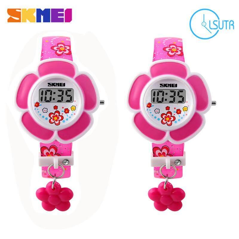 cd83f2ded 2 PCS/SET Skmei 1144 Fashion Creative Children's Digital Electronic Girl's  Watch Purple & Rose
