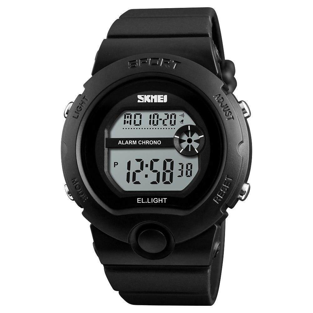 Skmei แฟชั่นกีฬากลางแจ้งนาฬิกาข้อมือสตรีกันน้ำ Chrono ผู้หญิงนาฬิกาปลุกนาฬิกาข้อมือดิจิตอล 1334 By Ze Long Bei Mall.