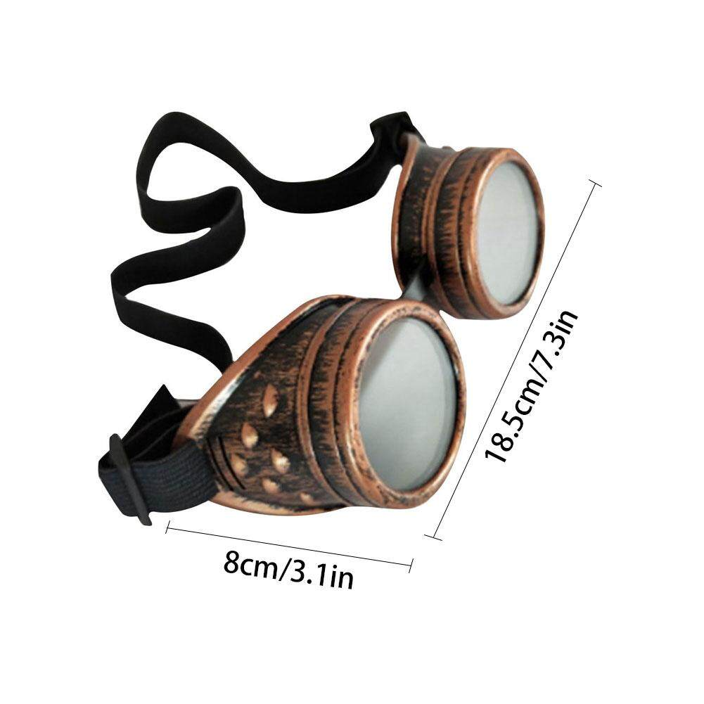 4af17b2fa2e89 Retro Vintage Victorian Steampunk Riding Goggles Glasses Protection  Eyepieces Welding Cyber Punk Gothic Cosplay