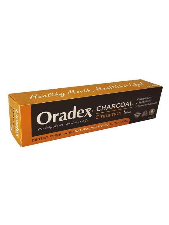 Oradex Charcoal Cinnamon Whitening Toothpaste - 120g