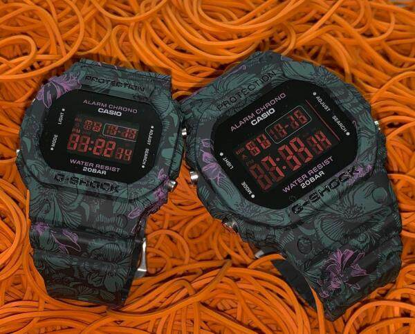 SPECIAL PROMOTION G_SHOCK_FLORA DIGITAL RUBBER STRAP WATCH SET FOR COUPLES Malaysia