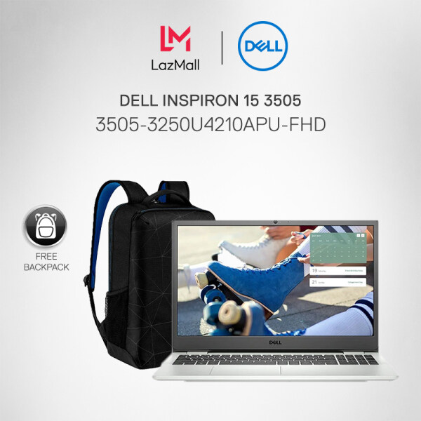 [NEW] DELL INSPIRON 15 3505 (3505-3250U4210APU-FHD) LAPTOP (AMD Ryzen 3-3250U Mobile /4GB/256GB SSD + 1TB HDD /15.6 FHD/AMD GPU/W10/1Year) Soft Mint+ Dell Backpack Malaysia