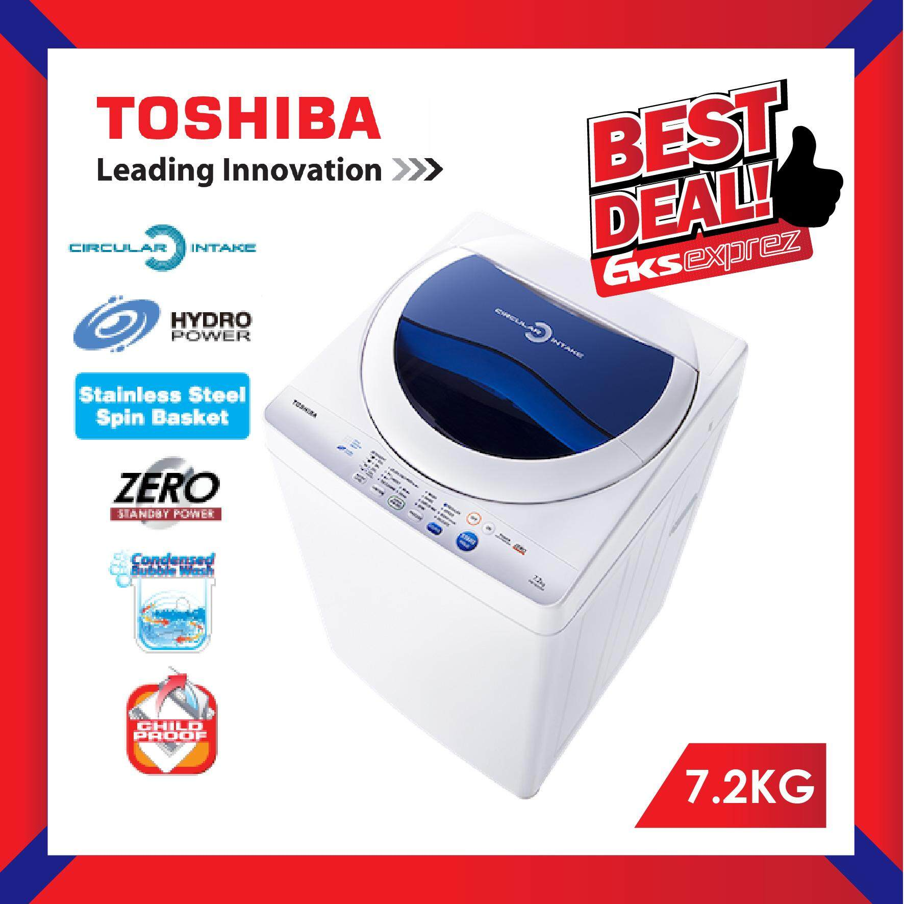 Toshiba AW-F820SM (WB) 7.2 KG Non Inverter Fully Auto Top Load Washing Machine with Circular Intake