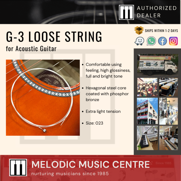 Acoustic Guitar 3rd Loose String G-3 023 (Bronze Extra Light Bright Tone) Malaysia