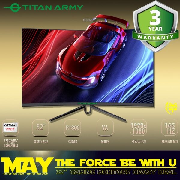 TITAN ARMY 32 Curved 165Hz Gaming Monitor (GS32) Malaysia
