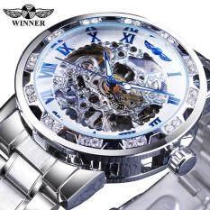 WINNER đồng hồ thể thao mẫu mới thời trang hoàng gia bề mặt trong suốt, đồng hồ cơ dạ quang thể thao thiết kế chống nước chống sốc, quà tặng lý tưởng cho nam giới – INTL