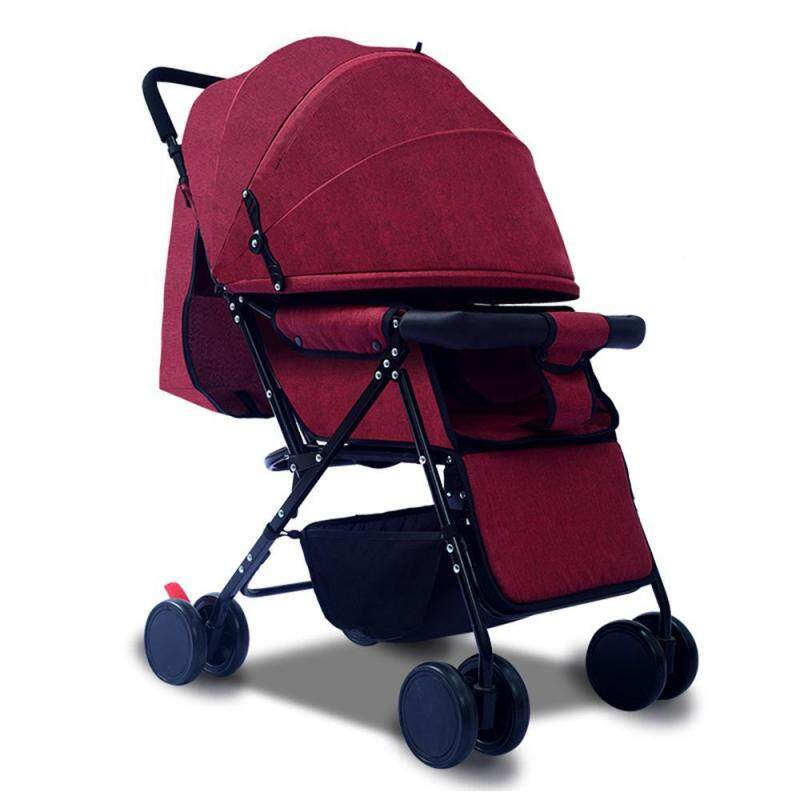 LightSmile Multifunctional 3 in 1 Baby Stroller High Landscape Stroller Folding Carriage Gold Baby Stroller Safe and Comfortable for Newborn Baby Singapore