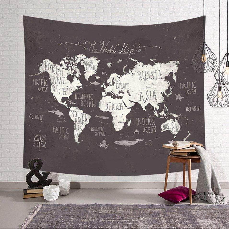 Hot Sale Best selling Exit Cloth Casual Bedroom Decoration Nordic World Map