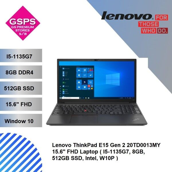 Lenovo ThinkPad E15 Gen 2 20TD0013MY 15.6 FHD Laptop ( I5-1135G7, 8GB, 512GB SSD, Intel, W10P ) Malaysia