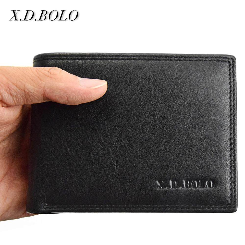 Genuine Leather Wallet Men Short Leather Purse Fashion Design Small Wallets Men  Coin Purses  for Man Card Holder