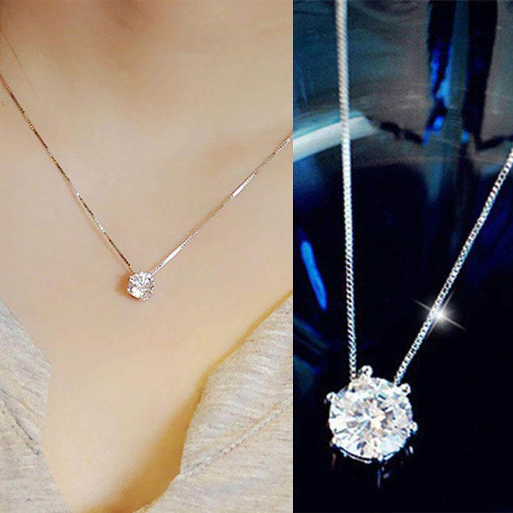 59ed0248170dd0 Zircon Rhinestone Choker Necklace Shine Diamond Silver Chain Women Simple  Trendy Jewelry Accessories Gift