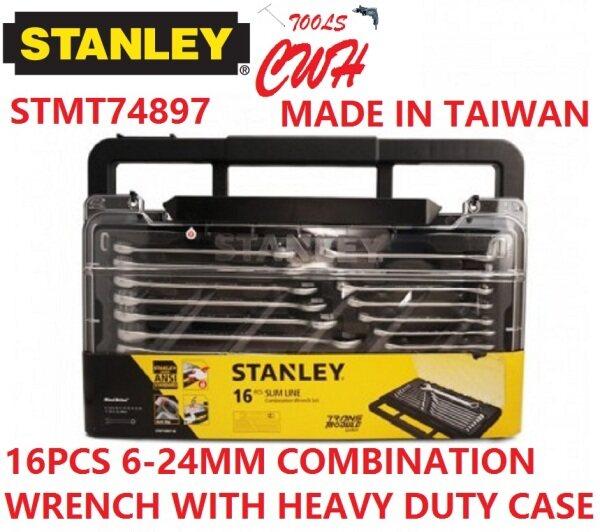 74-897 6-24MM STANLEY 16PCS COMBINATION WRENCH MODULE SET SOCKET NUT DRIVER