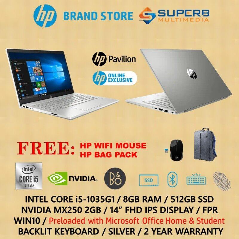 HP Pavilion - 14-ce3075tx / 14-ce3076tx / 14-ce3078tx / 14-ce3079tx Laptop ( Intel core i5, 8GB Ram, 512GB SSD, Nvidia MX250 2GB, Win10, OPI) online exclusive Malaysia