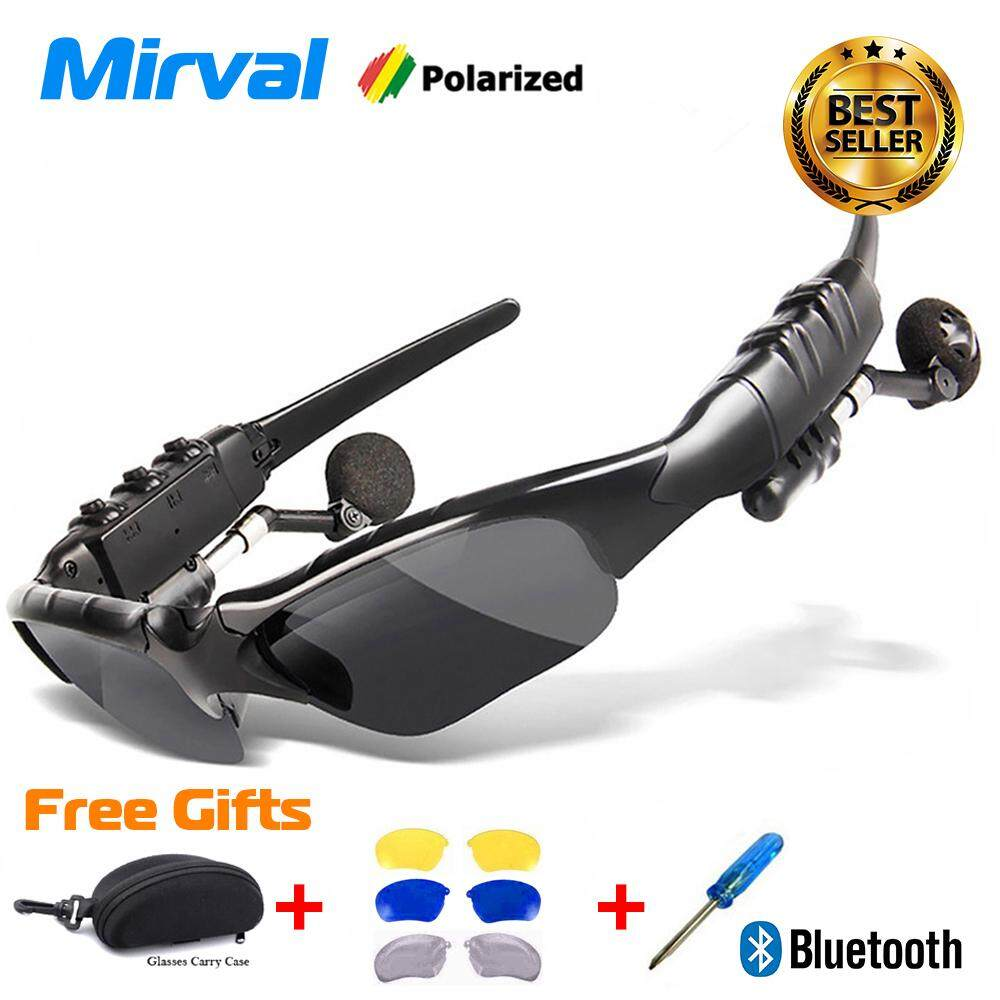 ad13766b5901 Mirval HBS Sport Stereo Wireless Bluetooth 4.1 Headset Telephone Driving  Sunglasses mp3 Riding Eyes Glasses