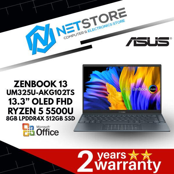 """ASUS ZENBOOK 13 UM325U-AKG102TS 13.3"""" OLED FHD - R5 5500U   RADEON GRAPHICS   8GB LPDDR4X   512GB SSD - PINE GREY - 90NB0TR1-M02470 Malaysia"""