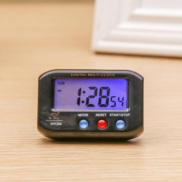Nơi bán đồng hồ báo thức đồng hồ đồng hồ điện tử Đồng Hồ Để Bàn Điện Cầm Tay Kỹ Thuật Số Điện Tử Báo Động Lịch Thời Gian Dữ Liệu Màn Hình LCD Đồng Hồ Bảng Nhỏ Cho Phòng Ngủ Xe Reloj De Mesa