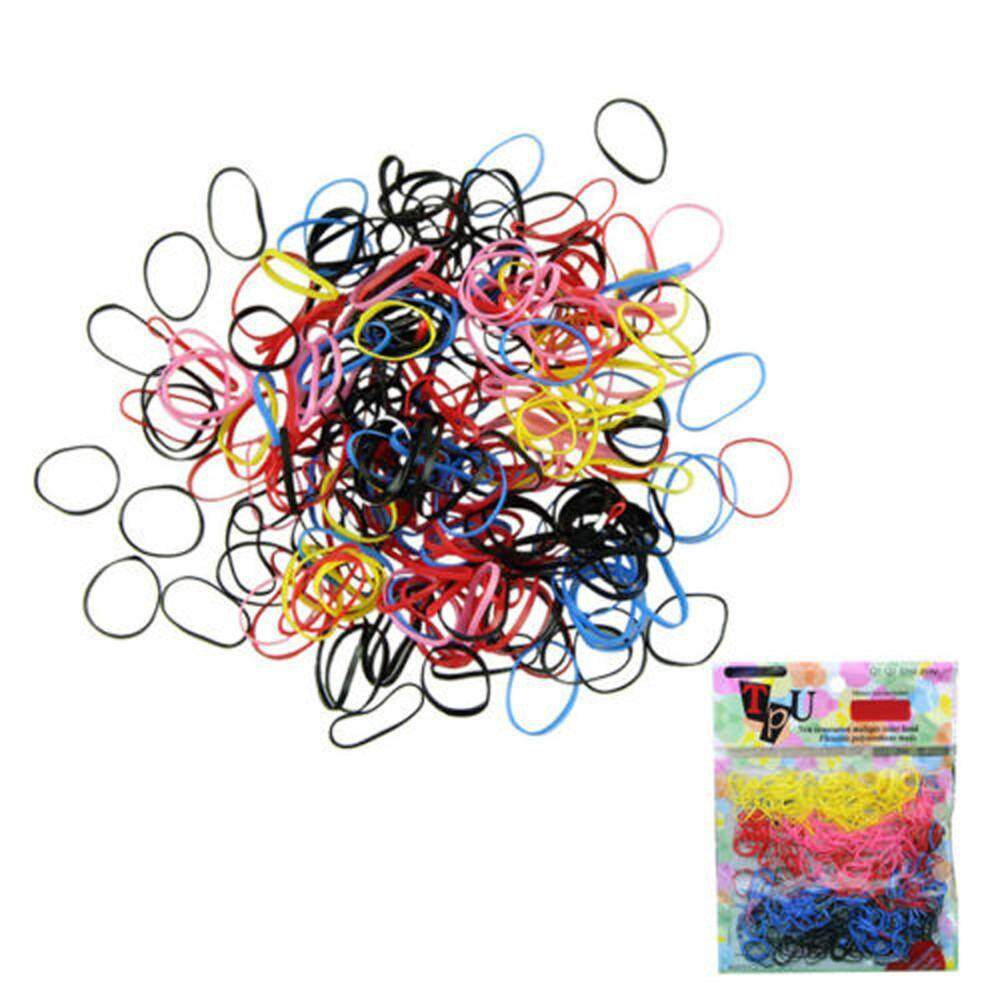 400pcs Rubber Rope Hairband Ponytail Holder Elastic Hair Band Ties Braids Plaits
