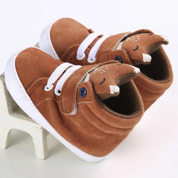 0-18 Tháng Giày Em Bé Giày Đi Bộ Giày Thể Thao Căn Hộ Dép Dép Fox Hight Cut Giày Sneaker Chống Trượt Đế Mềm Toddler Bé Gái Trai Miễn Phí Vận Chuyển giá rẻ