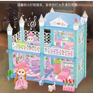 [Đèn LED + Âm Nhạc] Búp Bê Freebie Đồ Nội Thất Mô Phỏng Biệt Thự Nhà Búp Bê Tự Làm Bộ Nhà Mơ Ước Đồ Chơi Trẻ Em Cho Bé Gái Barbie thumbnail
