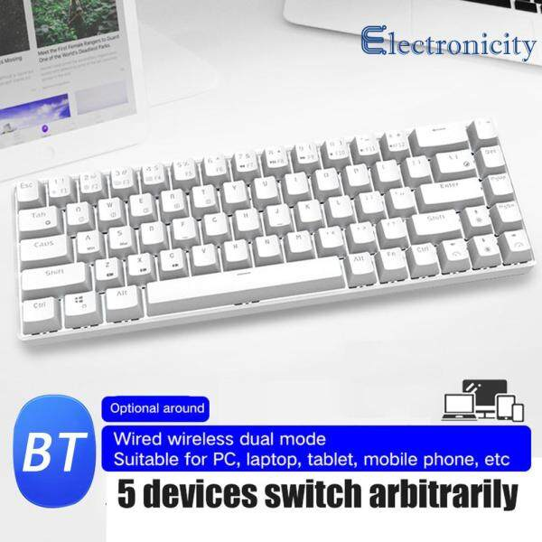 68 Keys Dual Mode Bluetooth USB Wired Backlight Gamer Office Mechanical Keyboard for Gamer Office Singapore