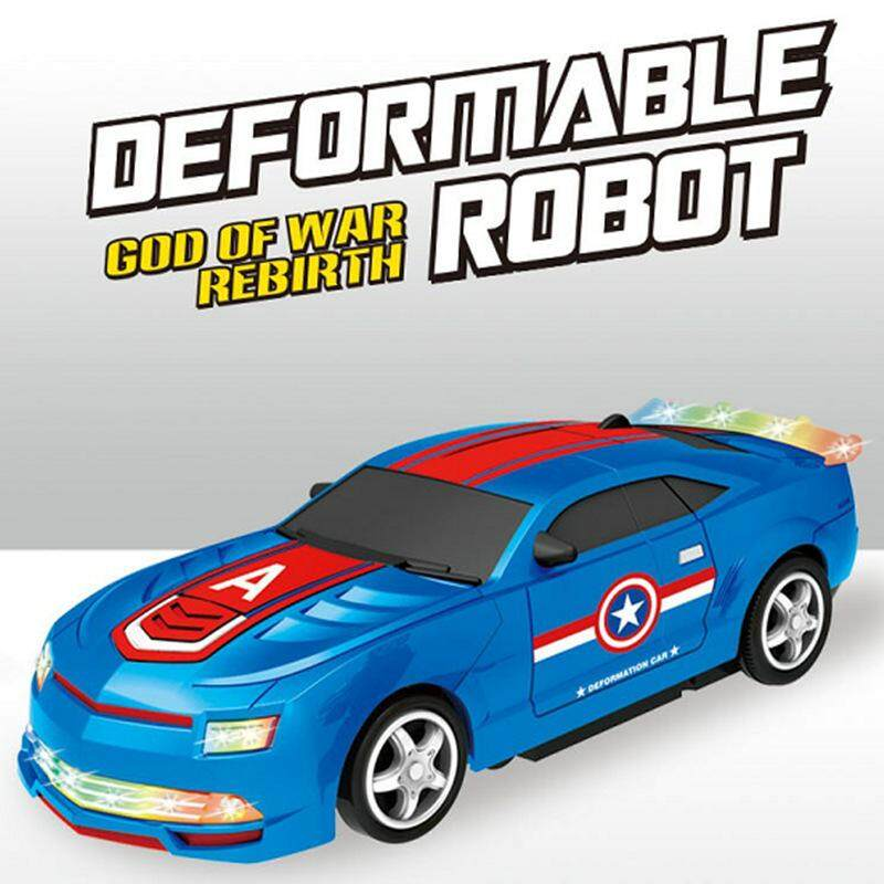 Childrens Electric Deformation Car Light Music Universal Deformation Robot Toy Car By Jin Xin.