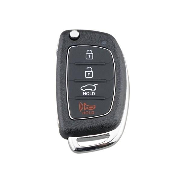 Vỏ Chìa Khóa Xe Hơi Gấp 4 Nút Cho Hyundai, Với Solaris Viền Kim Loại Ix35 Ix4 Ông Già Noel