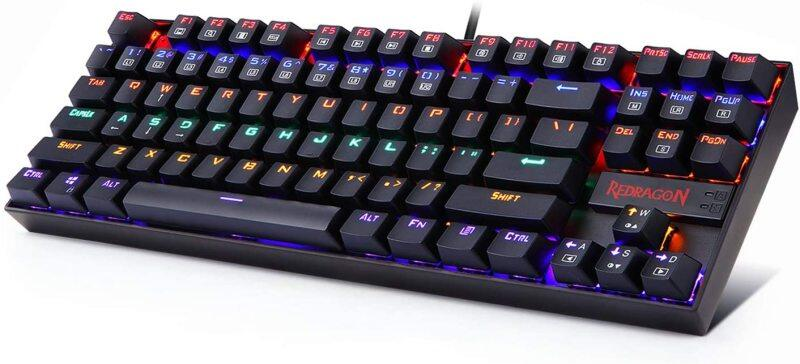 Redragon K552 RGB Mechanical Gaming Keyboard RGB LED Rainbow Backlit Wired Keyboard with Green axis for Windows Gaming PC 87 Keys Compatible with Windows 10/ 8/ 7 / vista/ xp Singapore