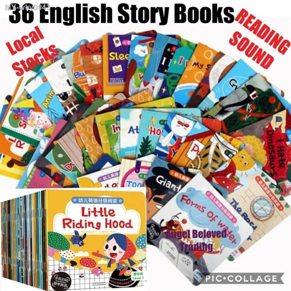 Children English Story Books (36 Books) with Reading Sound Age 4-7 Years Old (Level 2) Malaysia