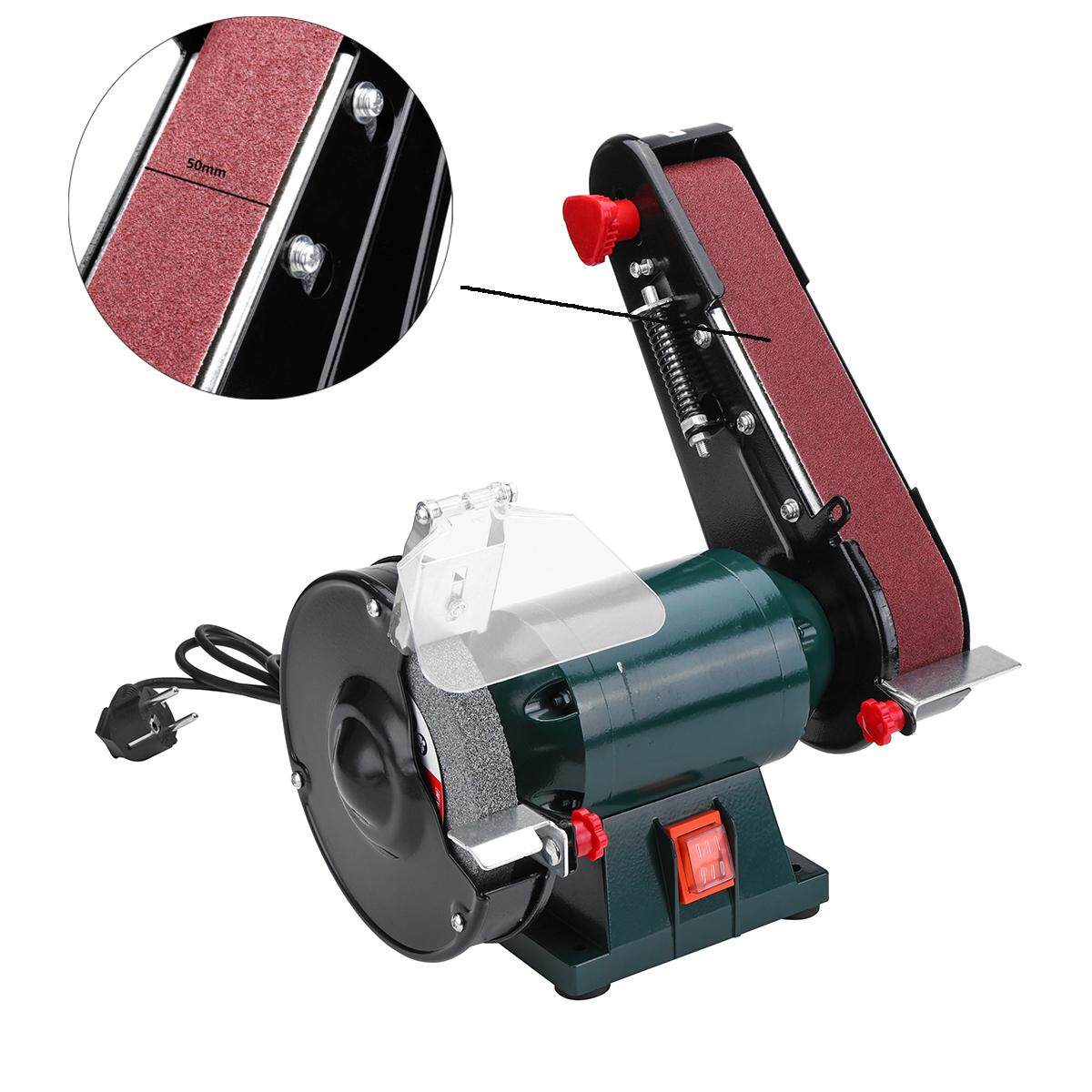 【Free Shipping + Super Deal + Limited Offer】6 150mm Bench Grinder Belt Sander Sharpener Linisher Sanding Grinding Machine