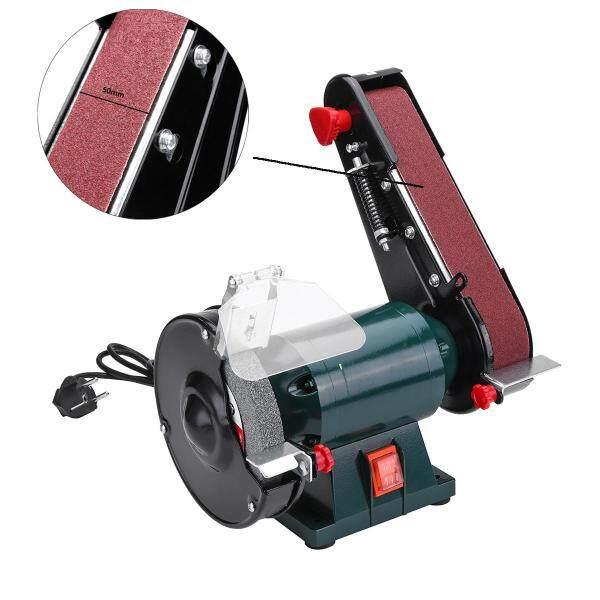 6 150mm Bench Grinder Belt Sander Sharpener Linisher Sanding Grinding Machine