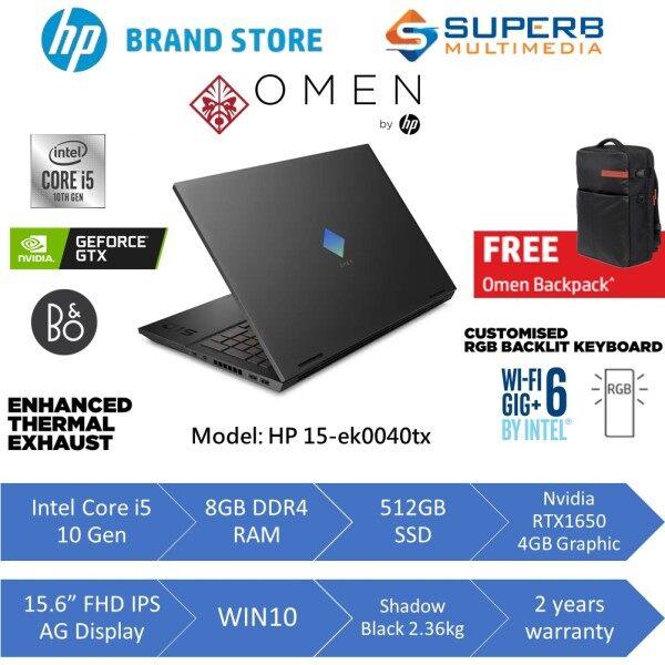 HP OMEN Laptop 15-ek0040TX (Intel core i5, 8gb ram, 512gb ssd, gtx1650 4gb, 15.6inch FHD, win10) Malaysia